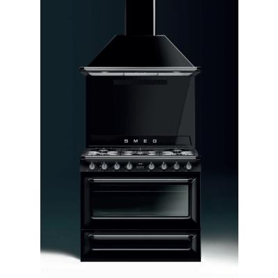 Smeg Cucine TRI90BL1 Libera installazione Gas hob B Nero cucina ...
