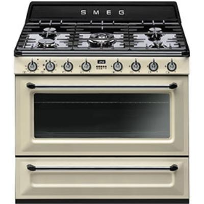 Smeg Cucine TRI90P1 Libera installazione Gas hob B Crema cucina ...