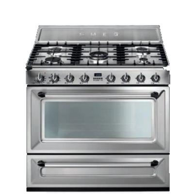 Smeg Cucine TRI90X1 Libera installazione Gas hob B Acciaio ...