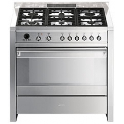 Smeg Cucine A1-7 Libera installazione Gas hob A Acciaio inossidabile ...