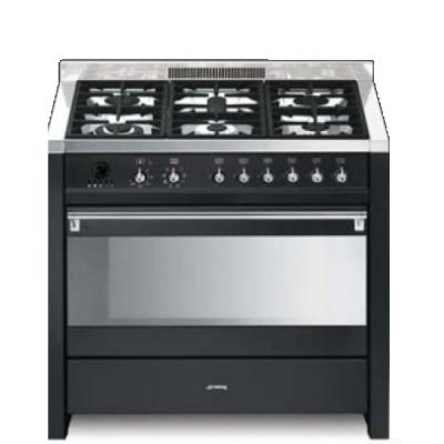 Smeg cucine cs19a 7 libera installazione combi hob a nero - Cucina libera installazione smeg ...