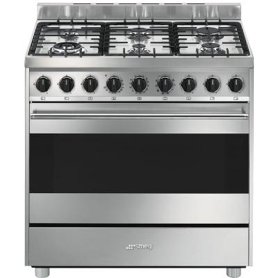 Smeg cucine b9gmxi9 libera installazione gas hob a acciaio - Cucine a gas libera installazione ...