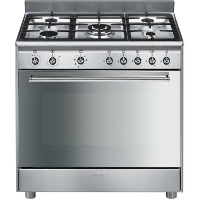 Smeg cucine sx91mf9 libera installazione gas hob a acciaio - Consumo gas cucina ...