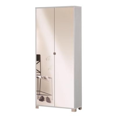 G scarpiere armadio 2 ante specchio pino shop for Grancasa armadi