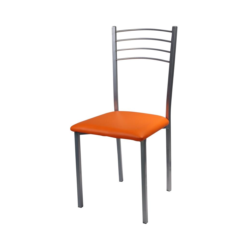 G sedie arredo sedia floriana arancio shop online su for Sedie blu cucina