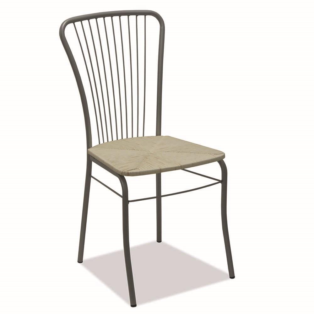 Sedie In Alluminio Per Cucina.G Sedie Arredo Sedia Zarina Alluminio Paglia Shop Online Su Grancasa