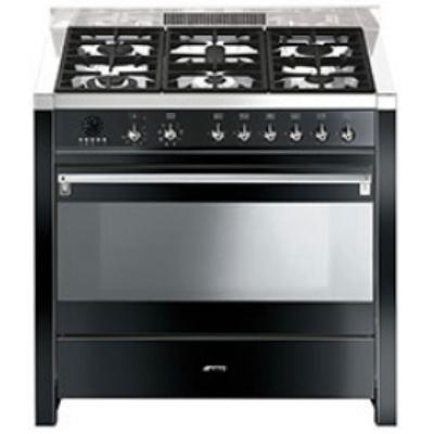A1BL-7 Libera installazione Gas hob A Nero, Acciaio inossidabile cucina